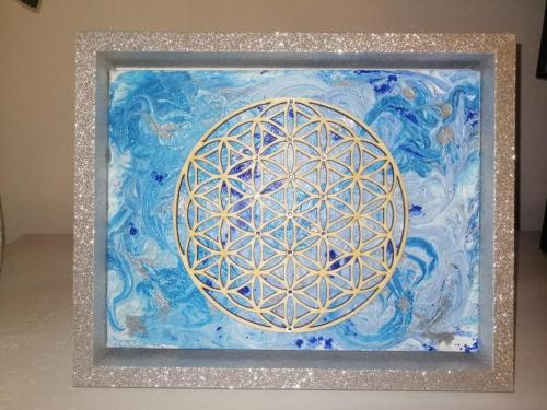 The sacred geometry of life (silver)