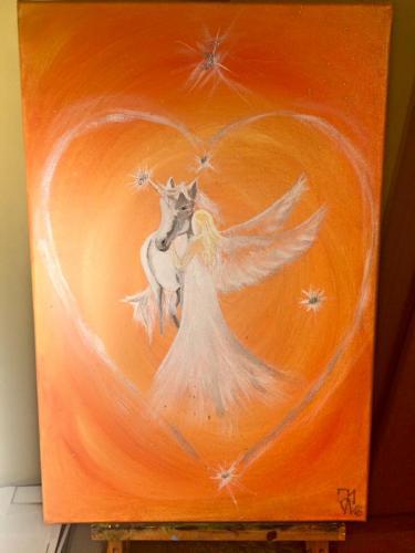 Angel of horses